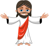 Smiling Jesus Christ Open Hands Isolated vector illustration