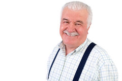 Smiling jovial senior man Royalty Free Stock Photos