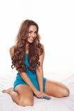 Smiling, joyful young woman Stock Photo