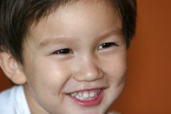 Smiling Kid. Smiling mixed Asian Caucasian 2 years old toddler Royalty Free Stock Photos