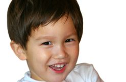 Smiling Kid. Smiling mixed Asian Caucasian 2 years old toddler Royalty Free Stock Photo
