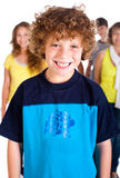 Smiling kid in focus Royalty Free Stock Image