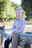 Smiling kid in park royalty free stock photos