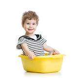 Smiling kid weared sailor clothes Royalty Free Stock Photos