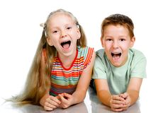Smiling kids Royalty Free Stock Photography