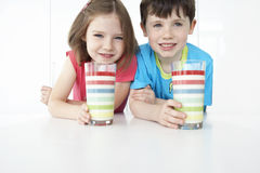 Smiling Kids With Colorful Glasses Royalty Free Stock Photos
