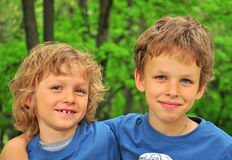 Smiling kids. Portrait of a smiling kids Stock Photo