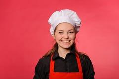 Smiling kitchen girl Royalty Free Stock Photo
