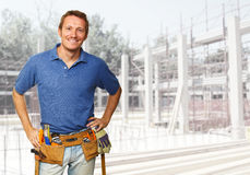 Smiling labor Stock Images