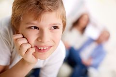 Smiling lad Royalty Free Stock Photo