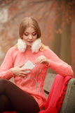 Smiling lady with headphones. Stock Photos