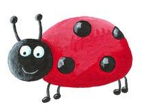 Smiling ladybug Stock Images