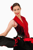 Smiling latin american dancer stock image