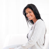 Smiling latin woman Stock Images