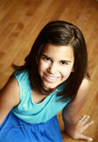 Smiling latina girl. Headshot of beautiful hispanic girl smiling Stock Images