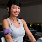 Smiling lating girl at gym Stock Photos