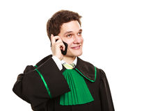 Smiling lawyer make a phone call. Royalty Free Stock Images