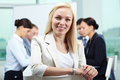 Smiling leader Royalty Free Stock Image