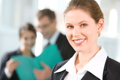 Smiling leader Royalty Free Stock Photography