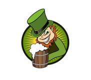 Smiling leprechaun Stock Images
