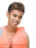 Smiling lifeguard portrait Stock Images