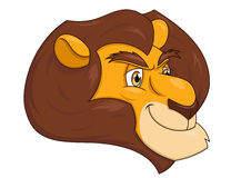 Smiling lion head 2 Royalty Free Stock Photos