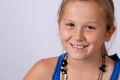 Smiling litle girl Royalty Free Stock Photography