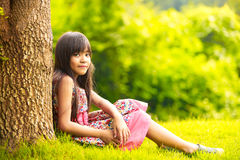 Smiling little asian girl Stock Photo