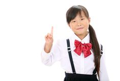 Smiling little asian schoolgirl Stock Image