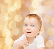 Smiling little baby Stock Images