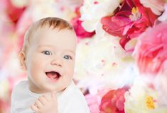 Smiling little baby Stock Image