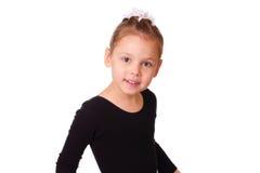 Smiling little ballerina girl Stock Images