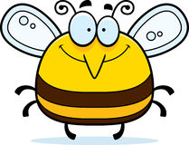 Smiling Little Bee. A cartoon illustration of a bee smiling stock illustration