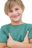 Smiling little blonde boy Stock Photography