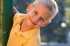 Smiling little boy Stock Images
