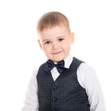 Smiling little boy in a business suit Stock Image