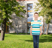 Smiling little boy in casual clothes Stock Images