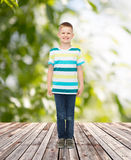 Smiling little boy in casual clothes Royalty Free Stock Image