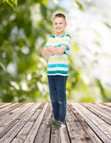 Smiling little boy in casual clothes Royalty Free Stock Photography