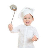 Smiling little boy in chef's hat Royalty Free Stock Photography