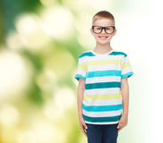 Smiling little boy in eyeglasses Stock Image