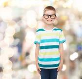 Smiling little boy in eyeglasses Royalty Free Stock Photos