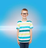 Smiling little boy in eyeglasses Royalty Free Stock Image