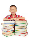 Smiling little boy with his book Royalty Free Stock Image