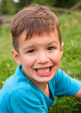Smiling little boy outdoor royalty free stock images