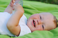 Smiling little boy portrait Royalty Free Stock Images