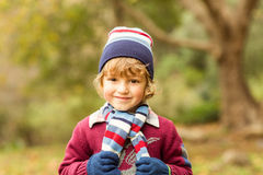 Smiling little boy posing for camera Royalty Free Stock Images