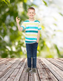 Smiling little boy showing ok sign Stock Images