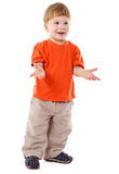 Little boy standing with empty hands Stock Image