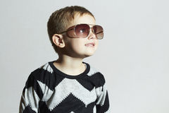 Smiling little boy in sunglasses.Child.Kids fashion Royalty Free Stock Photography